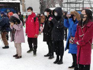 北海道の冬を満喫!-短期留学生課外授業