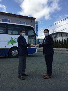 大型バスが寄贈されました